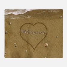 Wilkinson Beach Love Throw Blanket