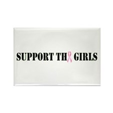 Support the Girls Rectangle Magnet