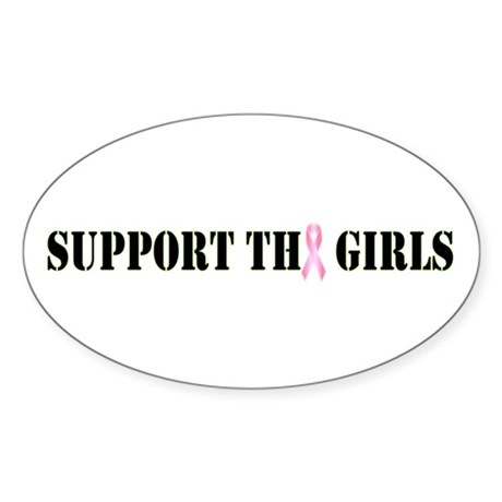 Support the Girls Oval Sticker