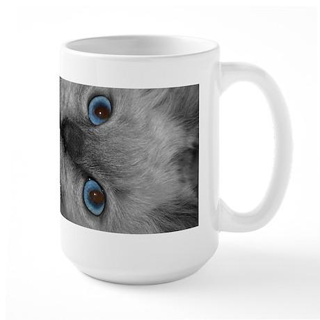 Large Coffee Kitty Mug