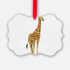 Very Tall Giraffe Illustration Ornament