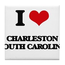 I love Charleston South Carolina Tile Coaster