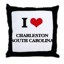 I love Charleston South Carolina Throw Pillow