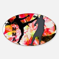 MMA Silhouettes in Red Explosion Decal