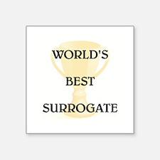 """SURROGATE Square Sticker 3"""" x 3"""""""
