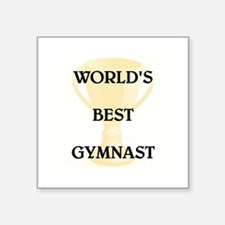 "GYMNAST Square Sticker 3"" x 3"""