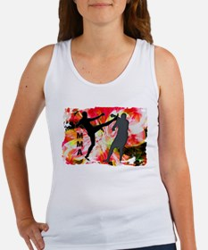 MMA Silhouettes in Red Explosion Tank Top