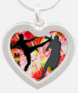 MMA Silhouettes in Red Explosion Necklaces
