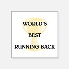 "RUNNING BACK Square Sticker 3"" x 3"""