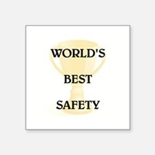 "SAFETY Square Sticker 3"" x 3"""
