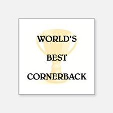 "CORNERBACK Square Sticker 3"" x 3"""