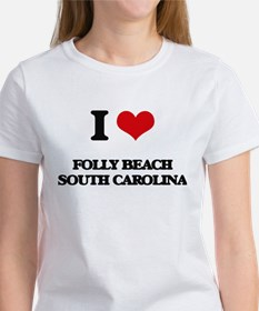 I love Folly Beach South Carolina T-Shirt