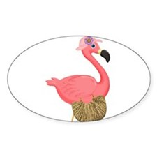 Pink Flamingo Lady Decal