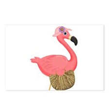 Pink Flamingo Lady Postcards (Package of 8)