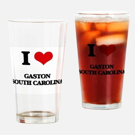 I love Gaston South Carolina Drinking Glass
