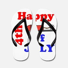 Happy 4th of July Flip Flops