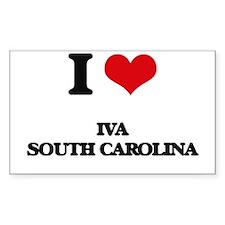 I love Iva South Carolina Decal