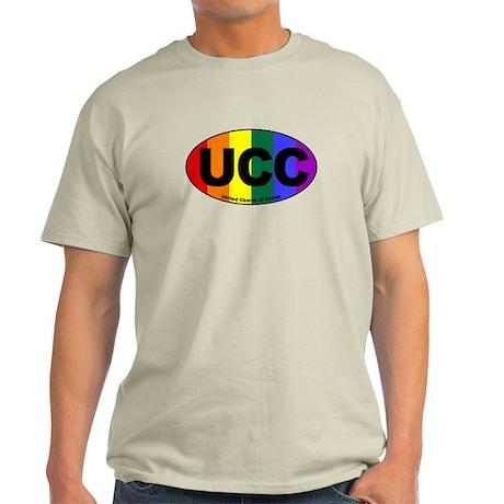 UCC United Church of Christ Rainbow Euro Light T-S