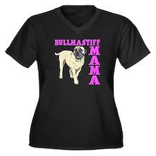 BULLMASTIFF Women's Plus Size V-Neck Dark T-Shirt