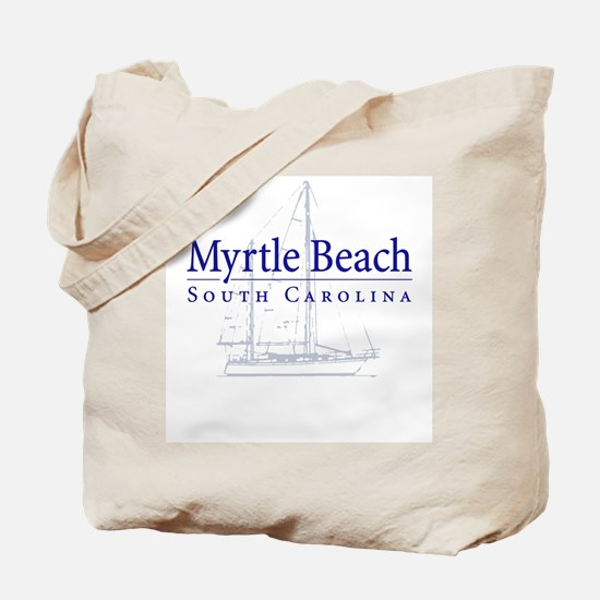 Myrtle Beach Sailboat - Tote or Beach Bag