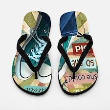 So She Did Flip Flops