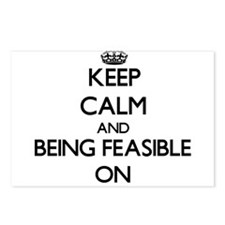 Keep Calm and Being Feasi Postcards (Package of 8)