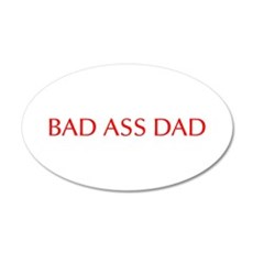 Bad ass dad-Opt red 550 Wall Decal