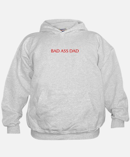Bad ass dad-Opt red 550 Hoodie