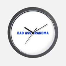 Bad Ass Grandma-Akz blue 500 Wall Clock