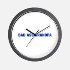 Bad Ass Grandpa-Akz blue 500 Wall Clock