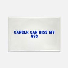 Cancer can kiss my ass-Akz blue 500 Magnets