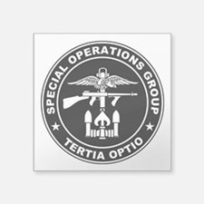 "SOG - Tertia Optio (BW) Square Sticker 3"" x 3"""