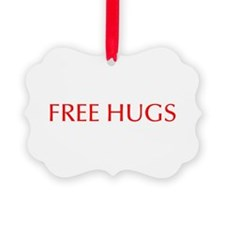 Free Hugs-Opt red 550 Ornament