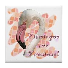 Fabulous Flamingo Tile Coaster