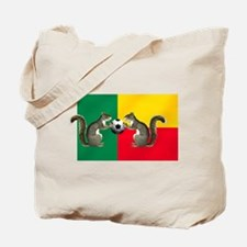 Benin Soccer Flag Tote Bag