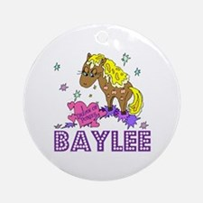 I Dream of Ponies Baylee Ornament (Round)
