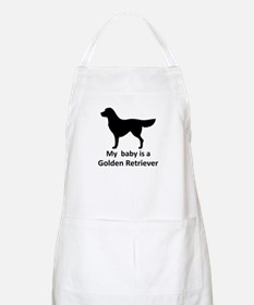 My baby is a Golden Retriever BBQ Apron