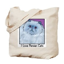 Blue Persian Cat Tote Bag