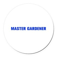 Master Gardener-Akz blue 500 Round Car Magnet