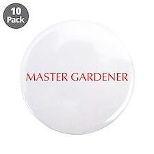 "Master Gardener-Opt red 550 3.5"" Button (10 pack)"