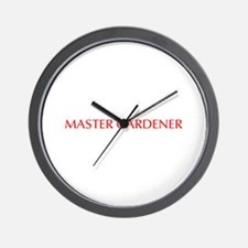 Master Gardener-Opt red 550 Wall Clock