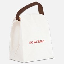 No worries-Opt red 550 Canvas Lunch Bag