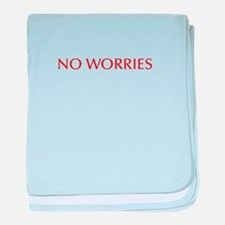 No worries-Opt red 550 baby blanket