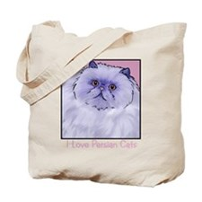 Purple Persian Cat Tote Bag