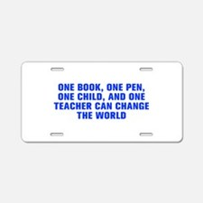 One book one pen one child and one teacher can cha