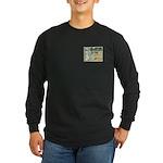 Vintage Dog Art Long Sleeve Dark T-Shirt