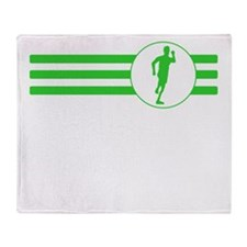 Runner Stripes (Green) Throw Blanket