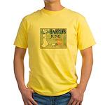 Vintage Dog Art Yellow T-Shirt