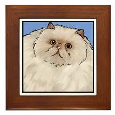 Cream Persian Cat Framed Tile