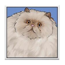 Cream Persian Cat Tile Coaster
